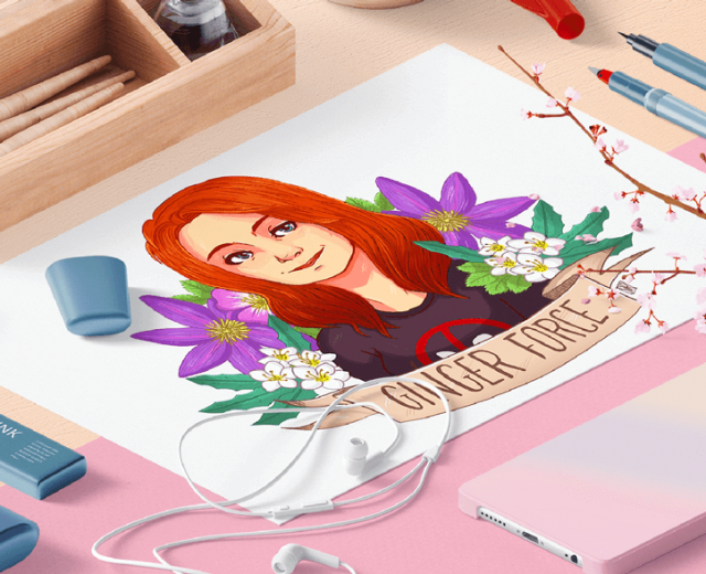 ginger-force-feministe-youtube-youtubeur-videaste-fanart-typographie-design-illustration-presse-designer-pixel-and-paper-stephanie-radavidson-webdesigner-graphiste-illustratrice-freelance-bordeaux